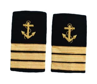 Epaulette Shoulder Board Merchant Navy Soft Slip on Anchor 3 bars